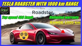 Tesla Roadster super car specifications and interseting facts/tesla roadster with  rage 1000 km