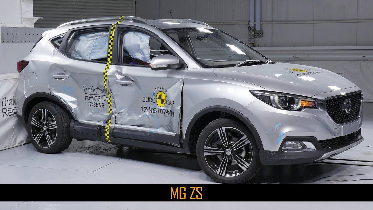 Mg Zs Crash Test Euro Ncap December 2017 Ratings Youtube