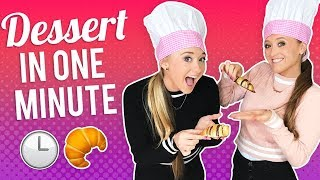 Dessert In One Minute!  The Rybka Twins