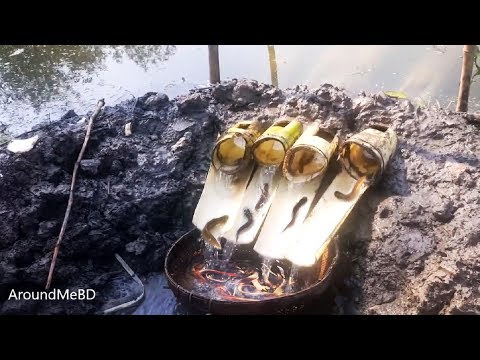 Unique Fish Trapping System | Banana Trunk & Thorns Fishing  | New Way Of Catching Country Fish
