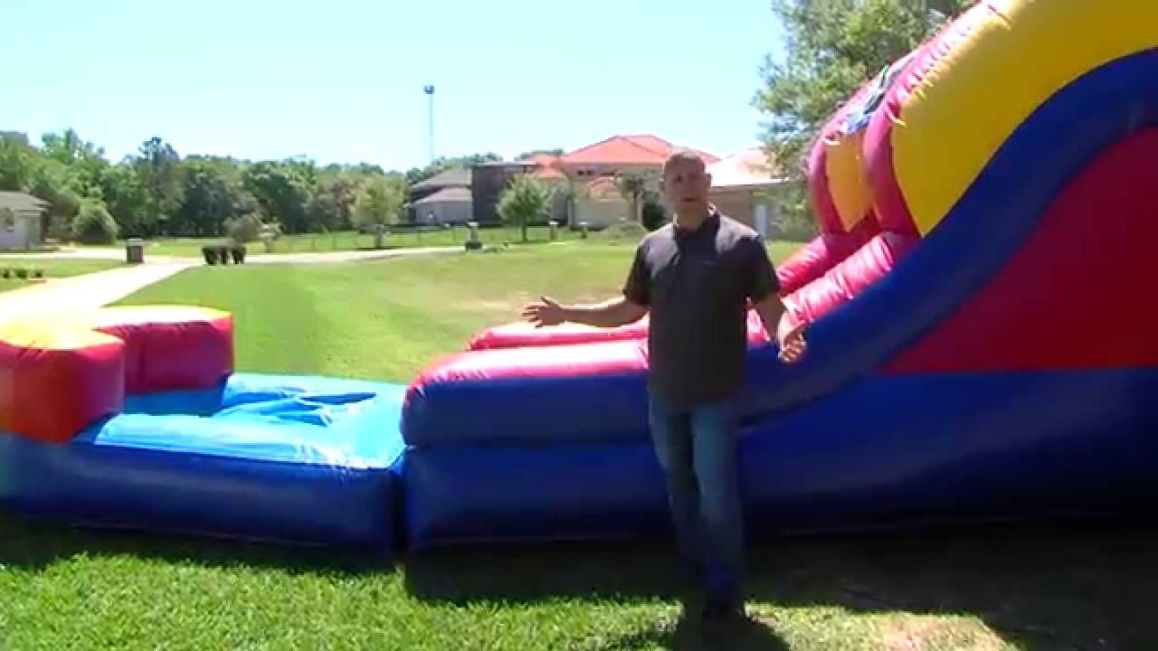 water slide bounce house combo rental land o - Water Slide Bounce House