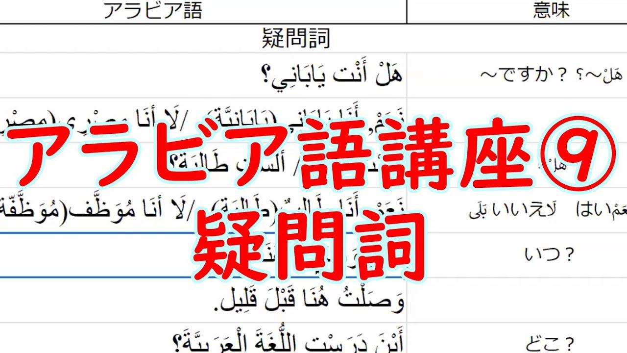 アラビア語オンライン講座ダイジェスト(中級②) #アラビア語