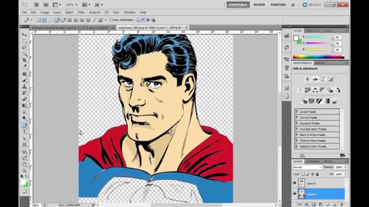 How to Ink a Comic Character in Adobe Illustrator