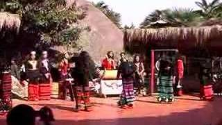 Sway long hair dance by Wa people (Wa tribe, YunNan, China)