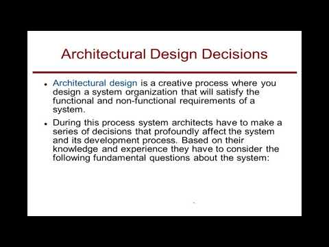 Lecture: Software Architecture And System Characteristics