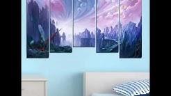 Декоративно пано за стена от 5 части с приказно изображение - HD-254