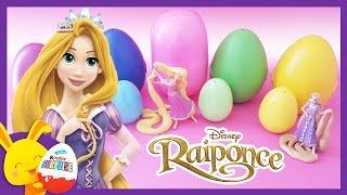 Apprendre les couleurs avec Raiponce - Oeufs surprises - Princesses Disney - Touni toys