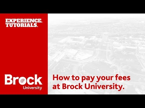 How to pay your fees at Brock University
