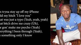 DaBaby  - iPHONE ft  Nicki Minaj (Official Lyrics)