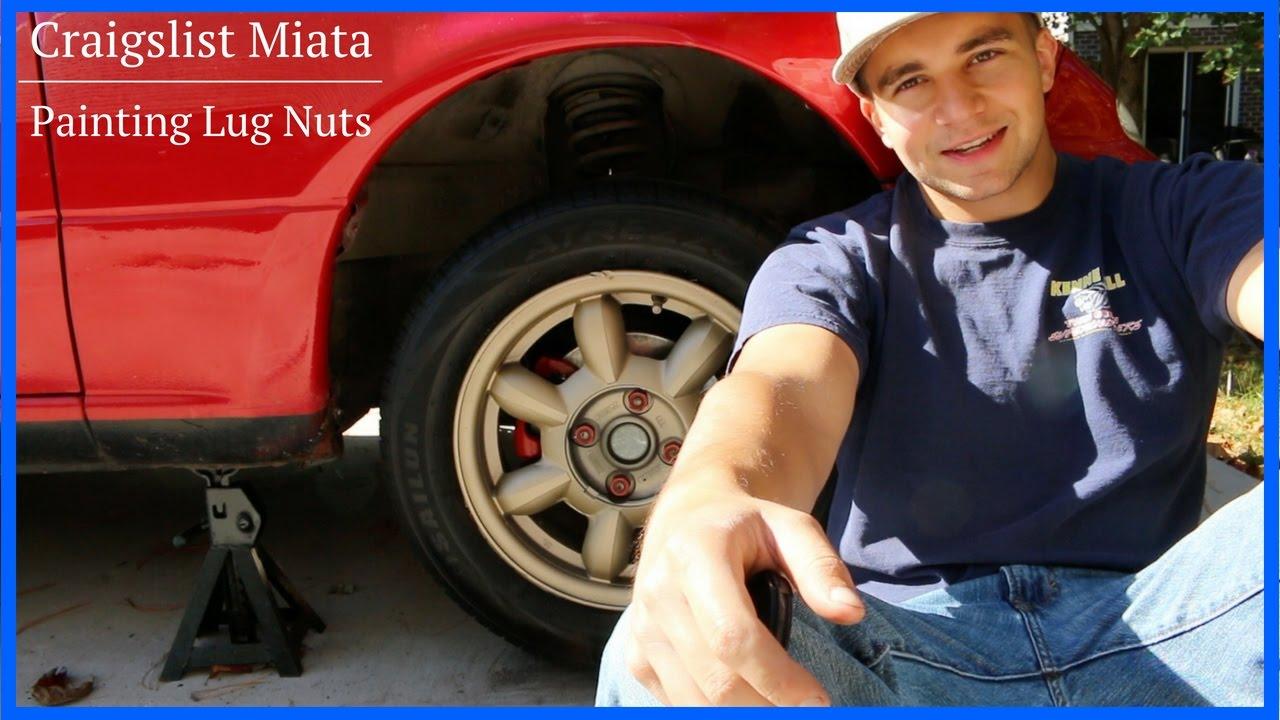 Painting Lug Nuts >> Spray Painting Lug Nuts Plastidipped Wheels Craigslist Miata