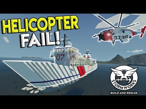 SPEEDBOAT CRASH RESCUE & COAST GUARD HELICOPTER FAIL! - Stormworks: Build and Rescue Update Gameplay
