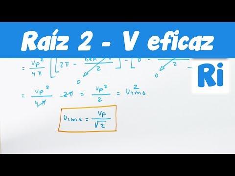 √2 de Tensión Eficaz RMS ¿De dónde viene?
