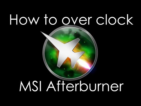 How To Overclock Using MSI Afterburner NVIDIA 1070