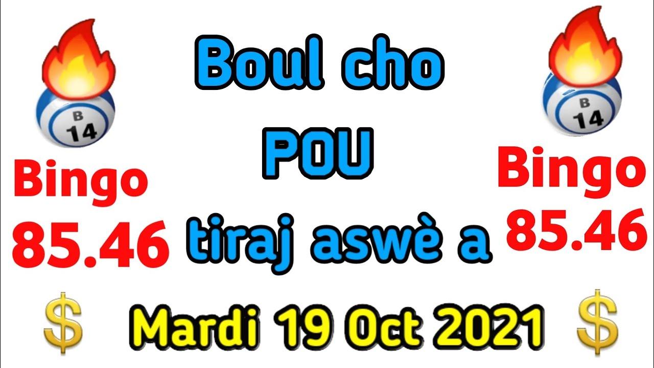 Download 6 boul cho pou kraze fò Aswè a 19 Octobre 2021NY et Fl.bingo ny: 85.46🔥Fl: 46💸Lotto4+maryaj