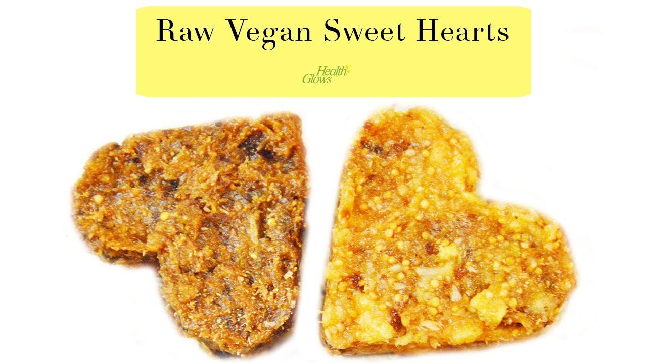 Raw Valentine's cookies Low Fat Raw Vegan - YouTube
