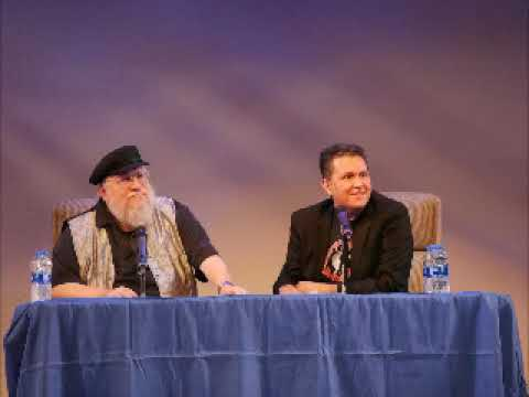 GRRM  with John Picacio in Redwood City at the Fox Theater on August 14th, 2018