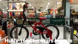 Huffy Star Wars bicycle 16 inch wheels LightSaber Handle Bars