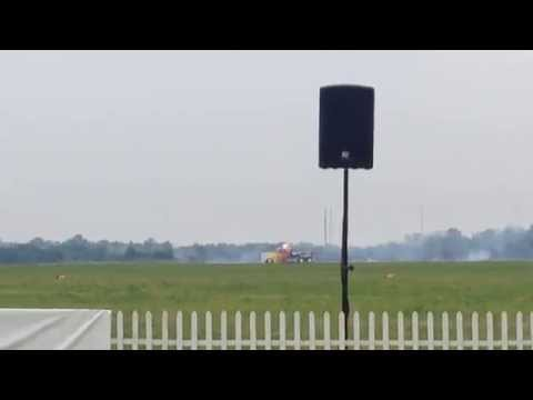 Patty Wagstaff races Shockwave Jet Truck - Dayton Airshow 2014