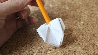 How to make an origami dreidel