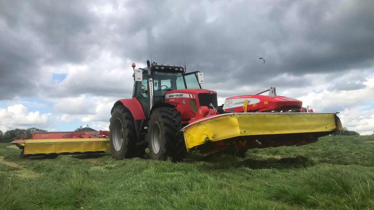 SLAUGHTERING MEADOWS WITH THE POTTINGER MOWERS!!! #SILAGE21
