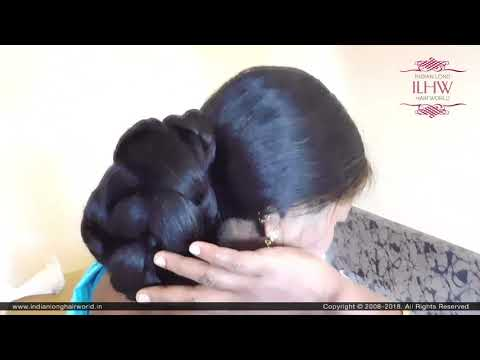 ILHW Real Rapunzel Rani Elegant Extra Huge Braided Bun with More Than Floor Length Mane