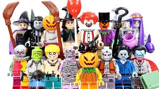 IT Pennywise The Clown Vampire Zombie Mummy & Pumpkin Halloween Series Unofficial LEGO Minifigures