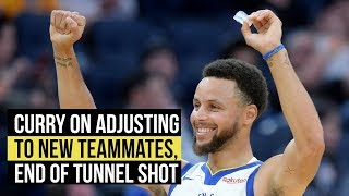 Curry says goodbye to tunnel shot and adjusting to new teammates