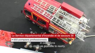 La maison à feu pour la formation des pompiers/The fire house for training firefighters