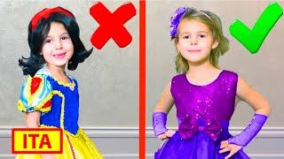 Cinque Bambini Mania si veste per una festa di compleanno