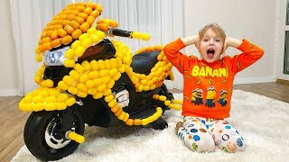 Margo Ride on Toy Sportbike &  playing with toys