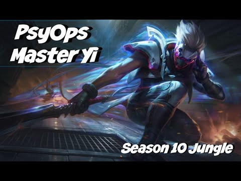 League of Legends: PsyOps Master Yi Jungle Gameplay