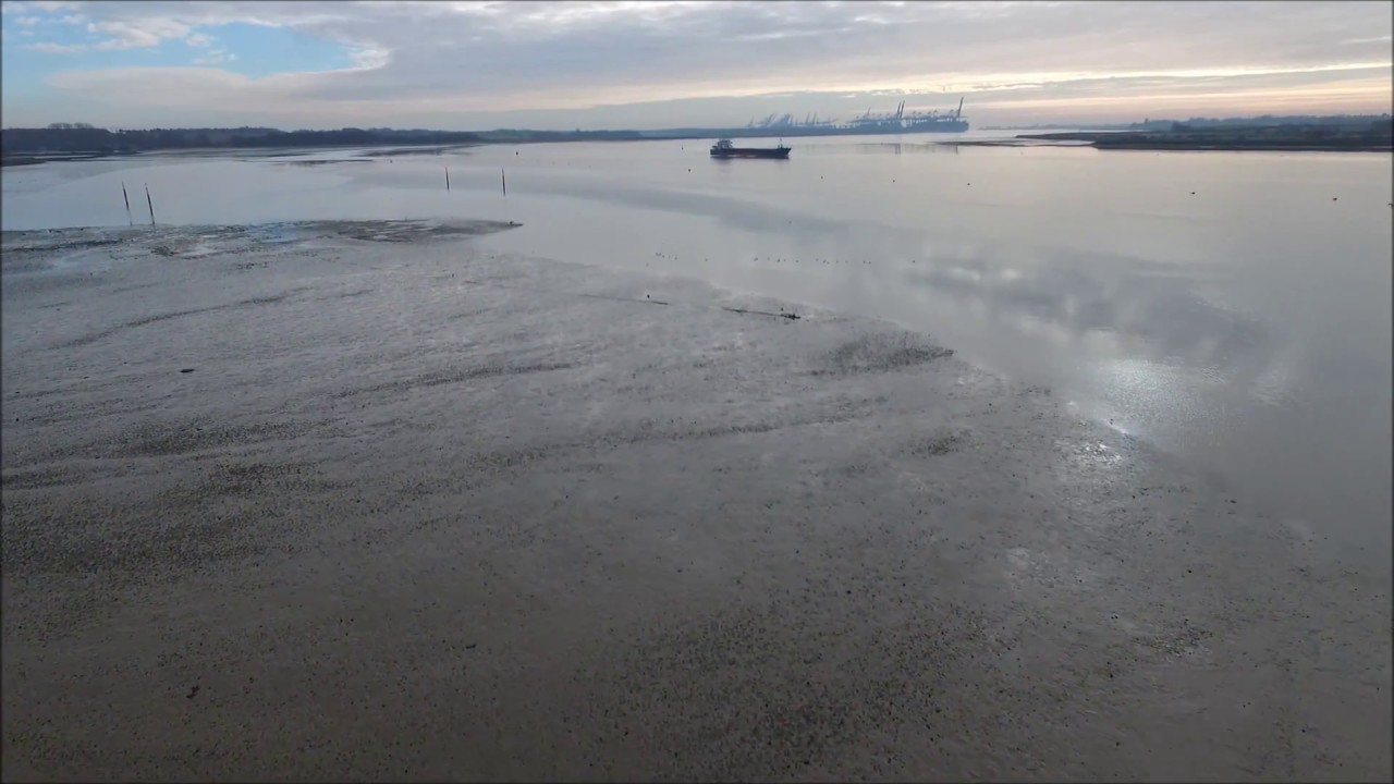 Levington flight over the river Orwell - YouTube