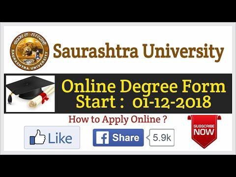 Saurashtra University Degree Certificate Form || Online Degree Form 2018-2019