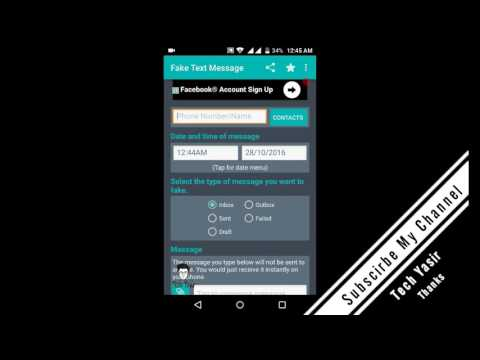 how to create a fake message on android