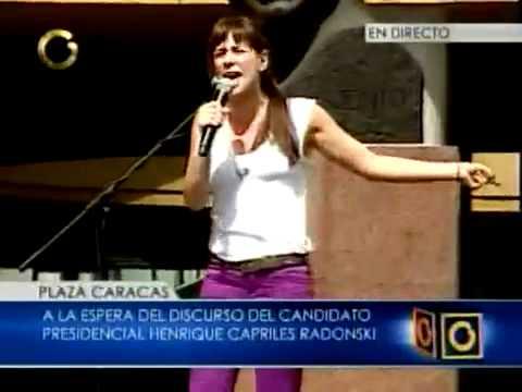 Erika de La Vega y el abrazo con Henrique Capriles Radonski