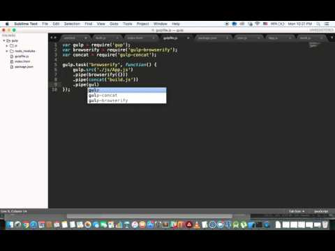 4 - Using gulp and browserify