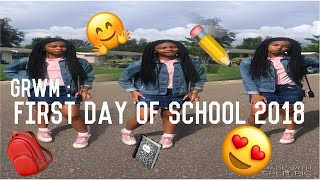 FIRST DAY OF SCHOOL 2018 (8th grade) | GRWM | Ava Carlíe🎒📓✏️