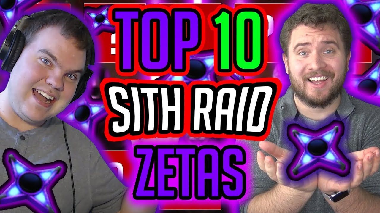 Top 10 Sith Raid Zetas! These Zetas Will Help You Get Big Damage! | Star  Wars: Galaxy of Heroes