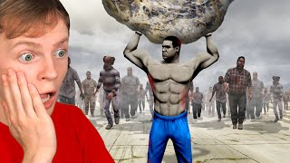 GTA 5 - ZOṀBIE Outbreak but ZOMBIES are SUPER STRONG!