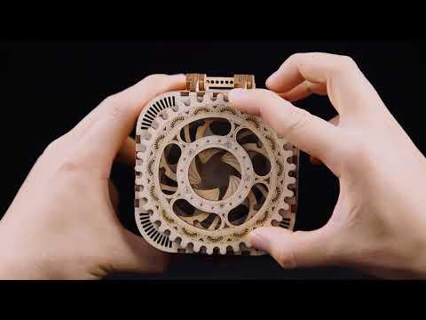 Robud Mechanical Model DIY  3D Wooden Puzzle Game Treasure Box/Calendar Model