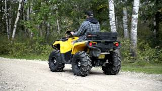 Can-Am Outlander 800xt - STOCK Exhaust vs. Looney Tuned Slip-On (LTE)