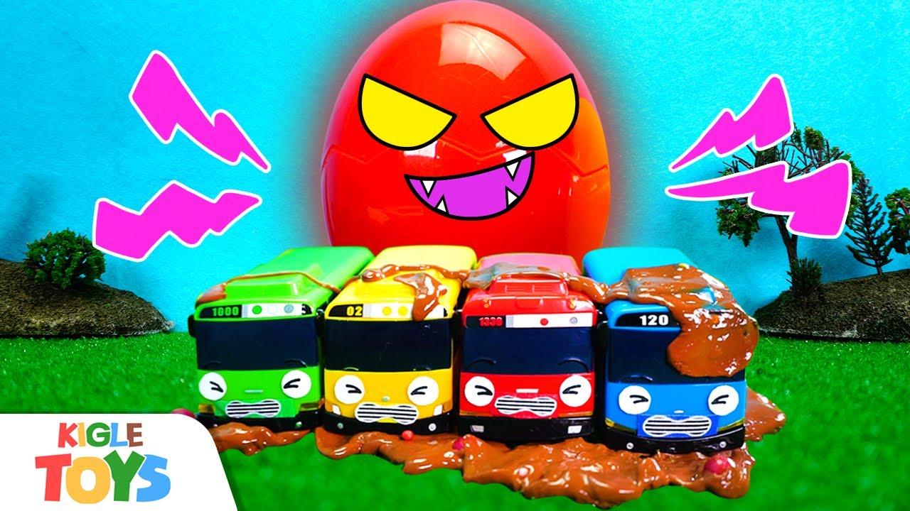 달걀 유령이 나타났어요! 장난감 버스 소방차 구급차 앰뷸런스 경찰차 | 타요 몬스터 폴리스 | 키글 토이 - KIGLE TOYS