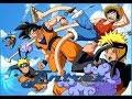 AMV Dragon Ball Z One Piece Naruto shippuden Three heroes One destiny Skilett Not gonna die