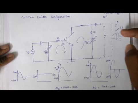 Transistor as an amplifier in Hindi