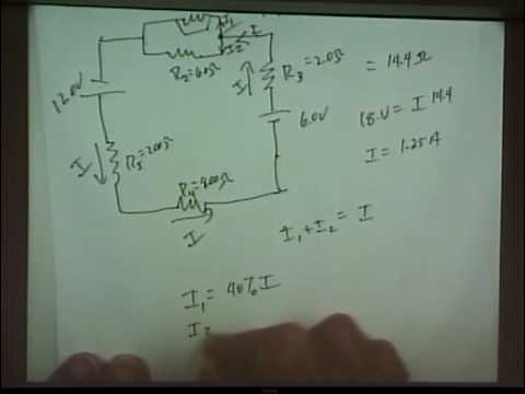 Physics 220 - Lecture 12 - Kirchoff's Rules, RC Time Constant