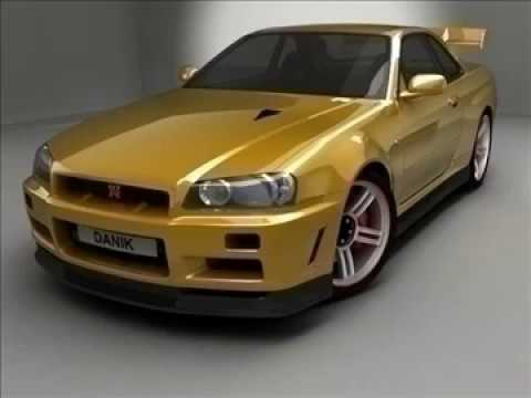 3d Model Of Nissan Skyline Gt R34 Review Youtube