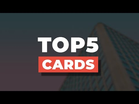 Top 5 Cards Using HTML & CSS