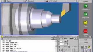CNC programming and simulation turning