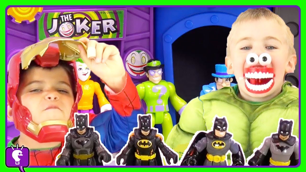 BAT CAVE Toy Play Compilation! Imaginext Toys For Kids with HobbyKidsTV