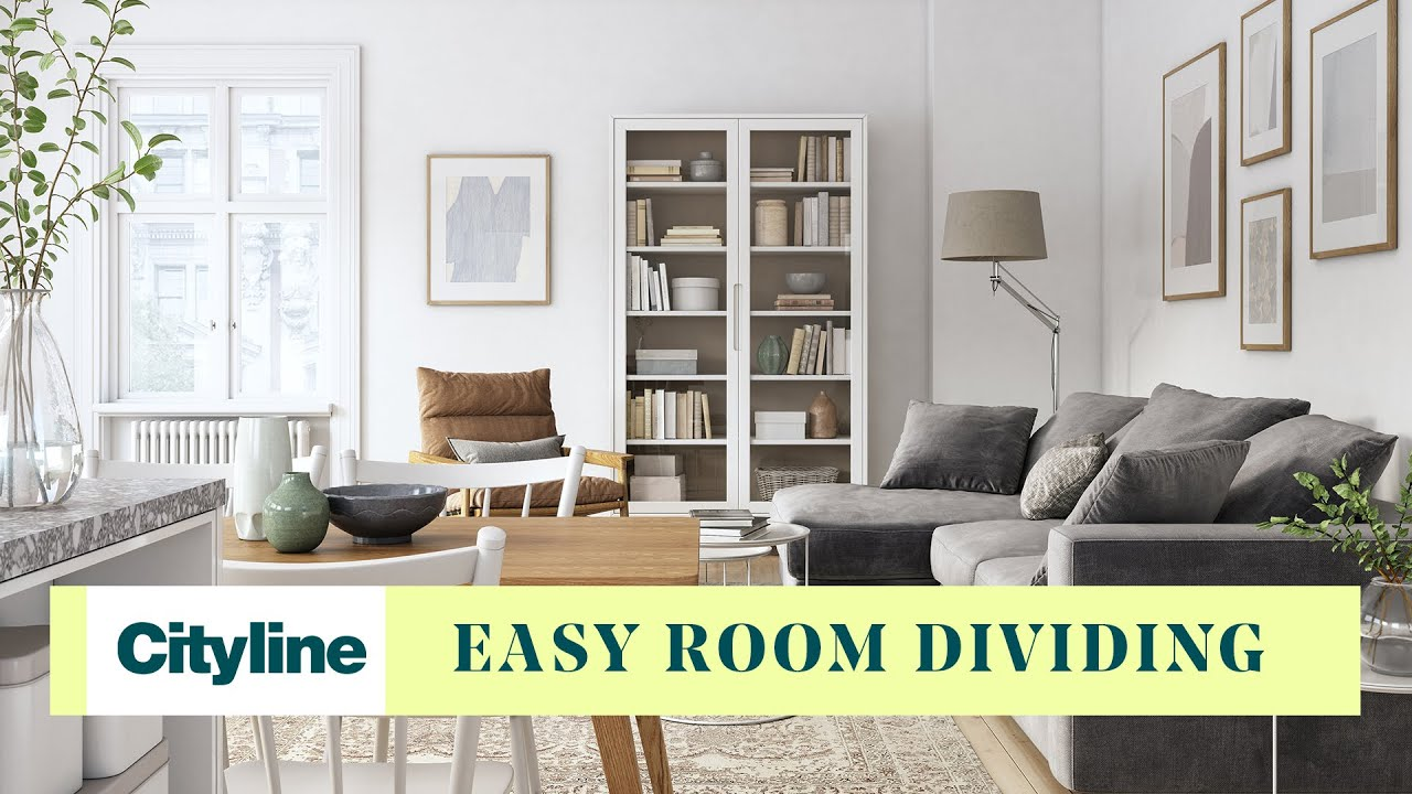 easy ways to divide your room with furniture youtube